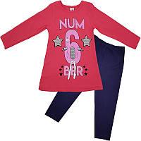 Костюм для девочки 98-116(3-6 лет) кофта и лосины, 2 цвета, арт.00954