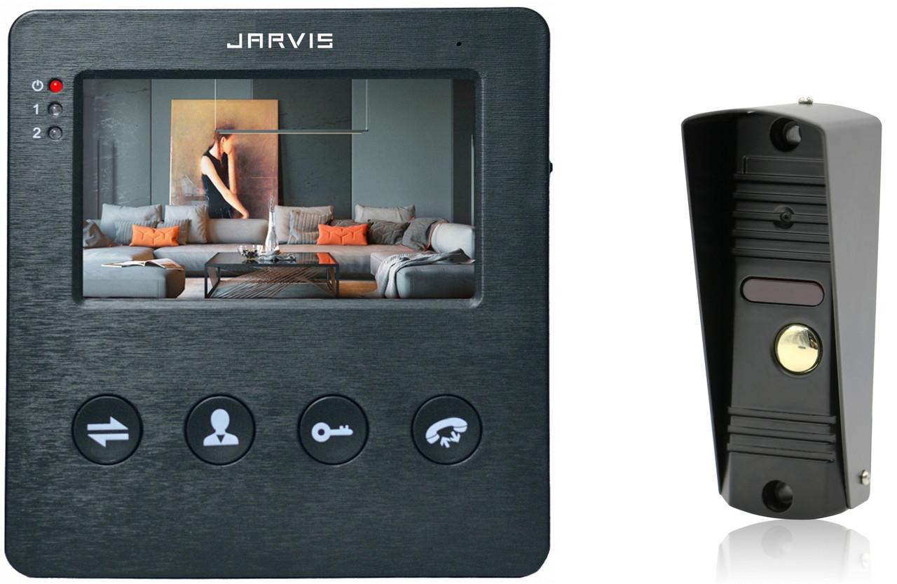 Видео Домофон (комплект) Jarvis JS-4BKIT черный