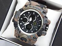 Спортивные наручные часы Casio G-Shock Ferrari хаки, коричневый камуфляж, фото 1