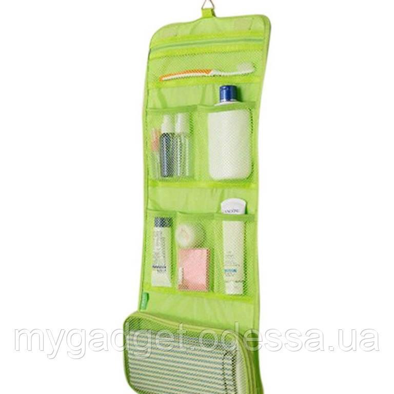 Косметичка-органайзер в ванную Blonder Home (Зеленый)