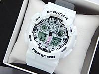Casio G-Shock ga-100 спортивні наручний годинник білого кольору з білим циферблатом, фото 1