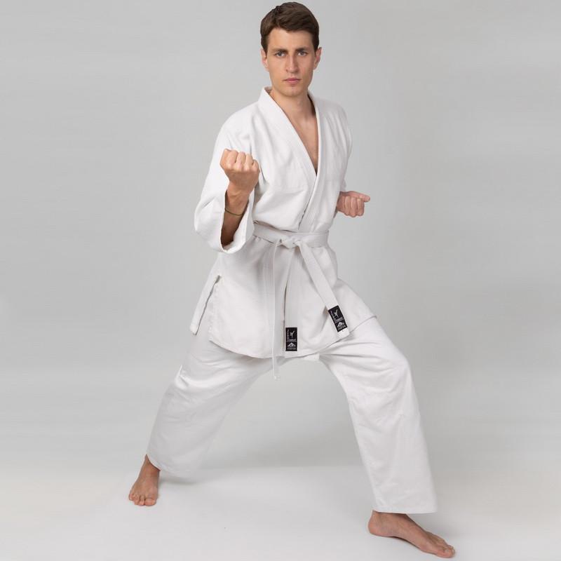 Кимоно для дзюдо Matsa белое 450 г/м2 MA-0013
