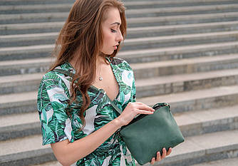 Сумочка Лето Винтажная кожа цвет Зеленый