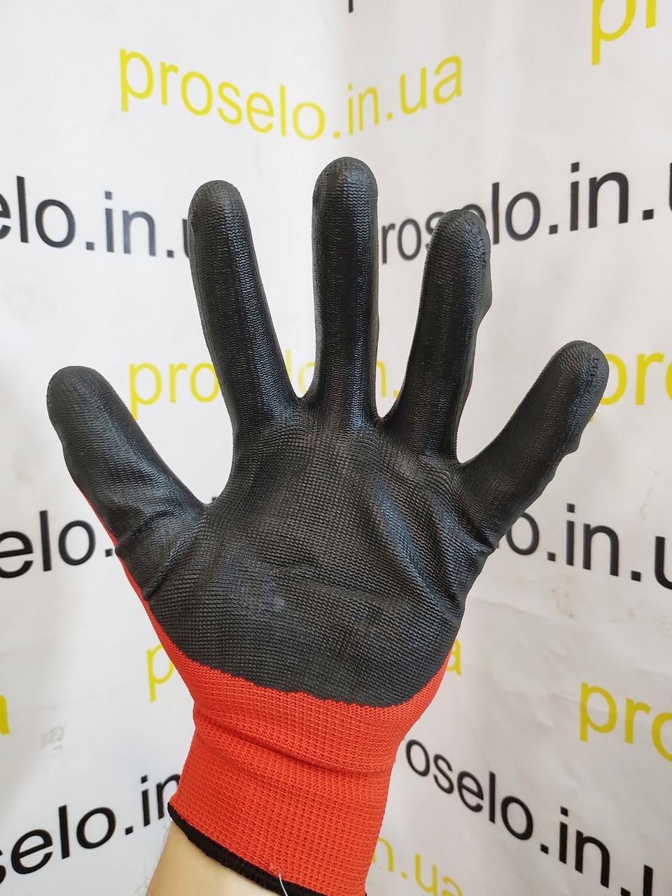 """Перчатки защитные """"MasterTool"""" 83-8401-B (EN420).Размер 10.Трикотаж с нитриловым покрытием на ладони"""