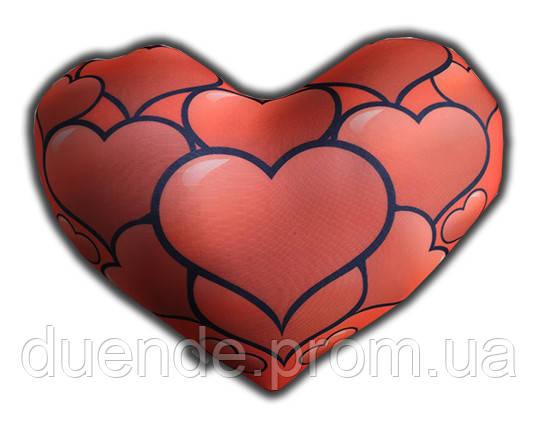 Серце - подушка антистрес, полистерольні кульки