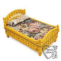 Меблі для ляльки плетена - ліжко. Під замовлення. Ручна робота.