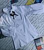 Блуза на дівчинку, рукав 3/4, р. 128-152, білий