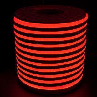 Светодиодный LED гибкий неон PROLUM 2835\120 IP68 220V, Красный