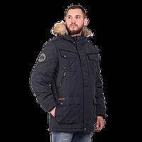 Мужская зимняя куртка Camel Active 420660 с мехом тёмно-синего цвета