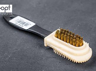 Щётка для замши двухсторонняя DASCO Brass Multi Application Suede Brush