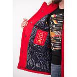 Мужская зимняя куртка Camel Active 420660-50 с мехом красного цвета, фото 3