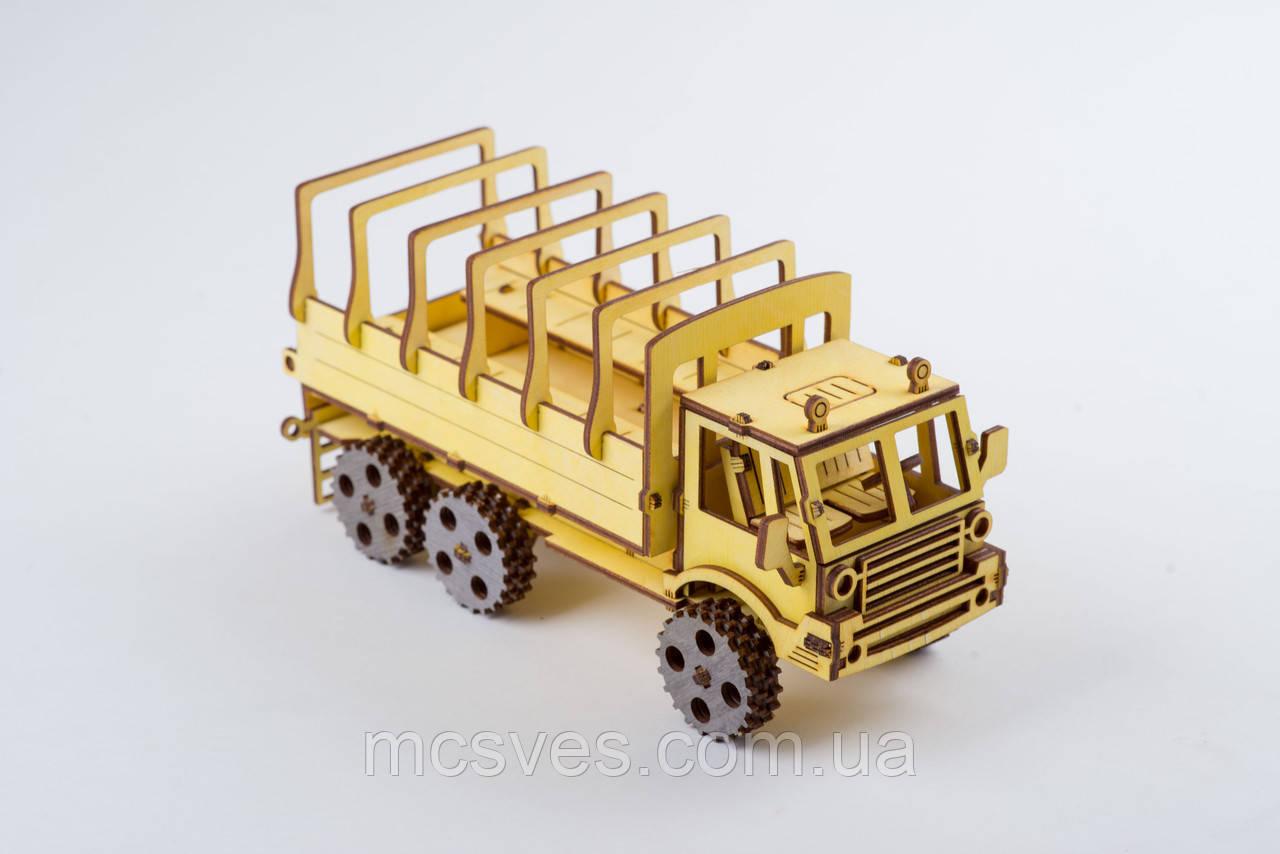 3D модель деревянная Военный грузовик