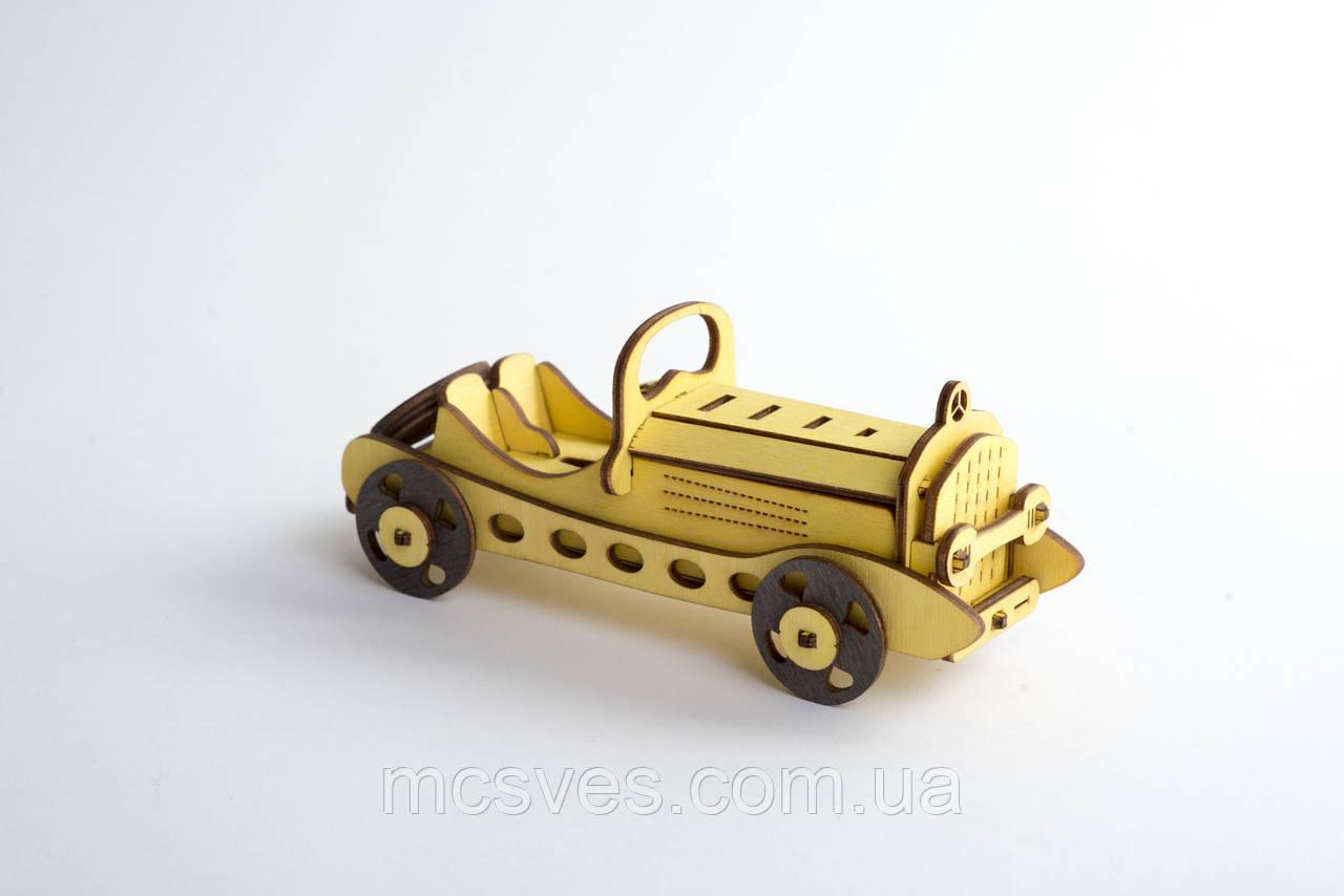 3D модель деревянная Ретро Кар