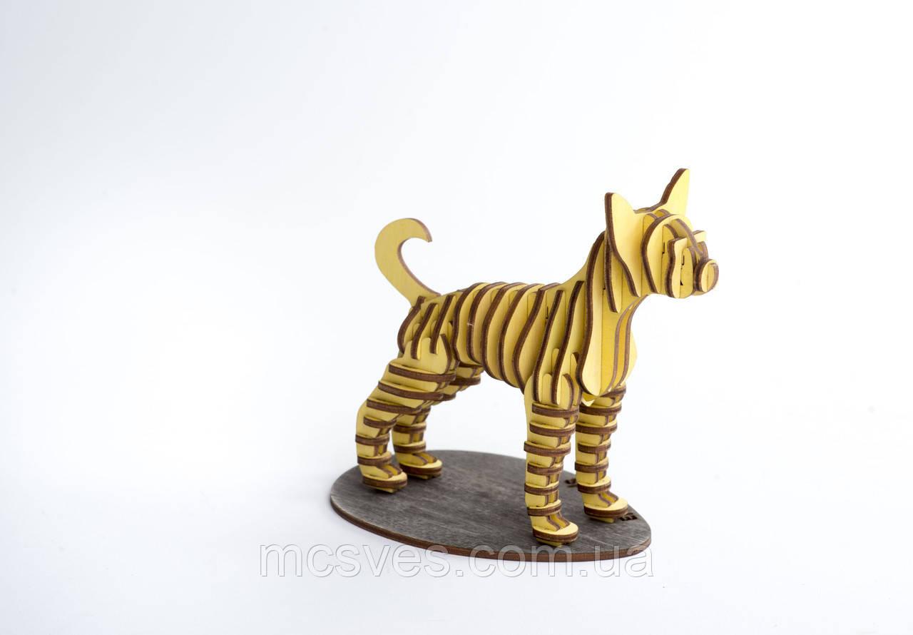 3D модель деревянная Собачка