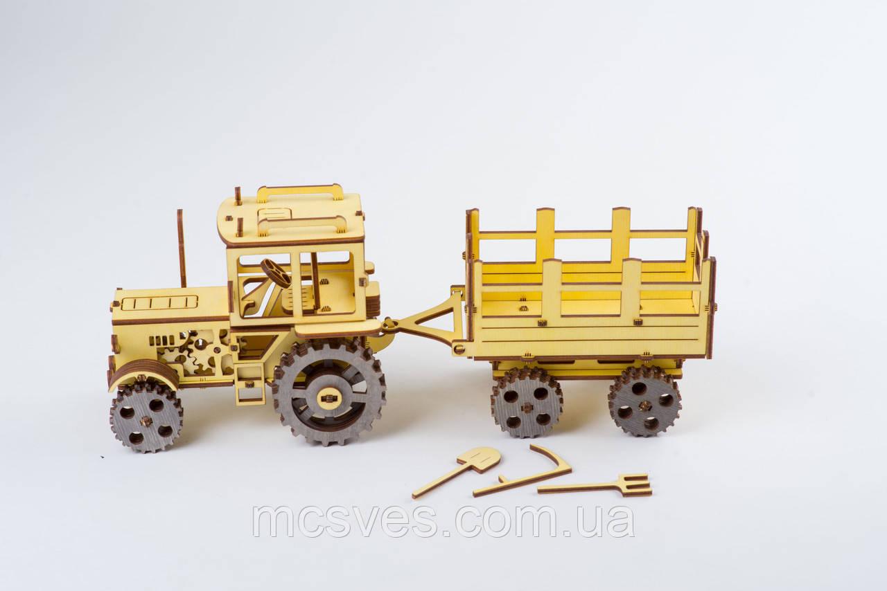 3D модель деревянная Трактор