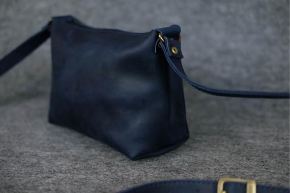 """Женская сумка """"Модель №26"""" Винтажная кожа цвет Синий"""