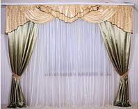 Ламбрекены и шторы в зал