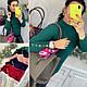 Комфортный женский свитер декорирован кнопками только пудра, фото 7