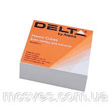 Бумага для заметок Delta D8001, 80х80х20 мм, непроклеенная, белый