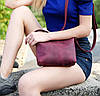 """Женская сумка """"Модель №26"""" Кожа Итальянский краст цвет Коричневый, фото 8"""