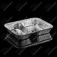 Контейнер с крышкой из пищевой алюминиевой фольги SC 2 L (213*163*30), фото 1