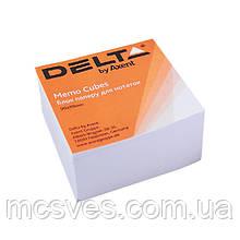 Бумага для заметок Delta D8003, 90х90х30 мм, непроклеенная, белый