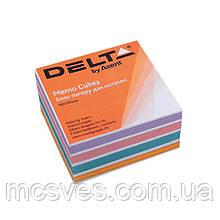 Бумага для заметок Delta Color D8024, 90х90х30 мм, проклеенная