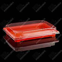 Пластиковая упаковка для суши и роллов С 25 PS Оранжевая, 220 шт/уп