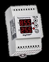 Терморегулятор ТК-6 (двухканальный, датчик DS18B20)  DIN
