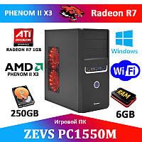 Недорогой игровой ПК ZEVS PC1550M 6GB RAM + R7 250 1GB + Игры