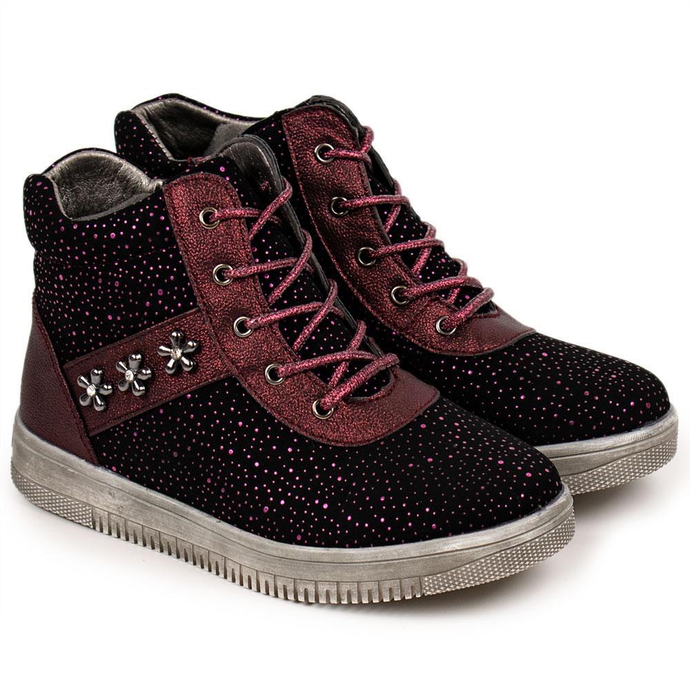 Ботинки для девочек Tom.m 30  бордо 980566