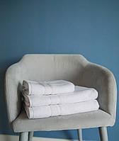 Набор махровых полотенец 50х90 70х140 Белый с полоской 500 г/м2 Турция