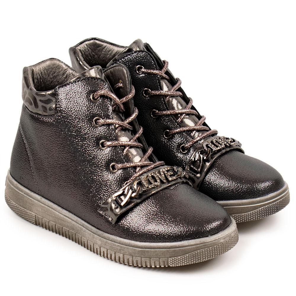 Ботинки для девочек Tom.m 30  платина 980567