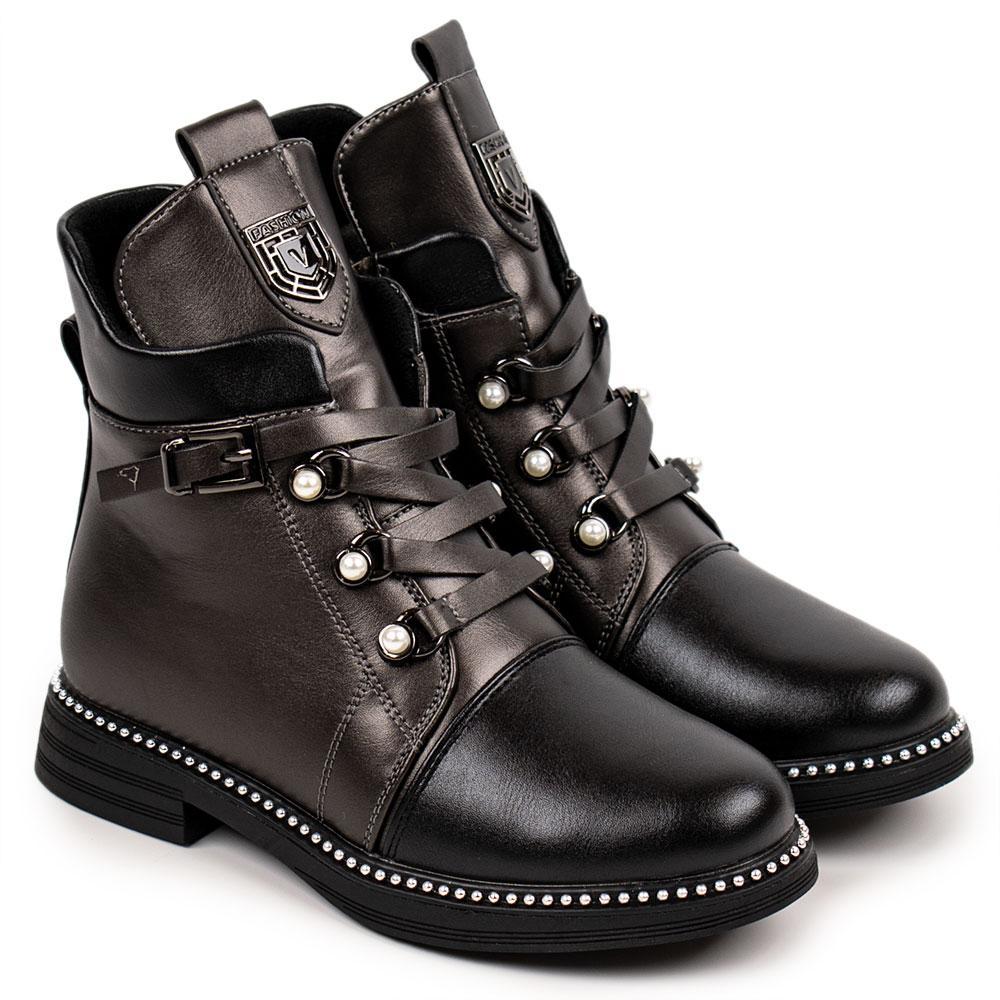 Ботинки для девочек Tom.m 34  платина 980568
