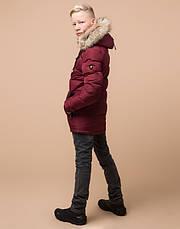 Braggart Kids | Зимняя куртка на мальчика 68255 бордовая, фото 3