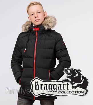 Braggart Kids   Куртка детская зимняя 68255 черная, фото 2