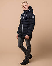 Braggart Kids | Зимняя куртка для мальчика 65028 сине-черная, фото 2