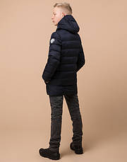 Braggart Kids | Зимняя куртка для мальчика 65028 сине-черная, фото 3