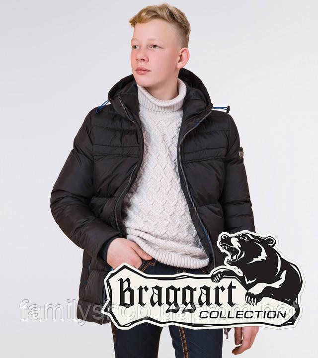 Braggart Kids | Детская куртка на зиму 65122 черная