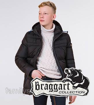 Braggart Kids | Детская куртка на зиму 65122 черная, фото 2