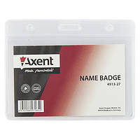 Бейдж Axent 4513-27-A горизонтальный, матовый, прозрачный, 83х52 мм
