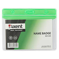 Бейдж Axent 4513-04-A горизонтальный, матовый, зеленый, 83х52 мм
