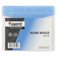 Бейдж Axent 4517-07-A горизонтальный, матовый, голубой, 100х70 мм