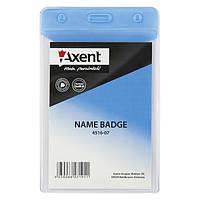 Бейдж Axent 4516-07-A вертикальный, глянцевый, голубой, 67х98 мм