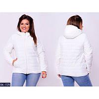 Куртка женская батал размеры 46-64 цвет белый