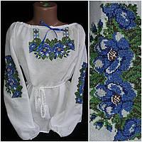 Блуза с вышивкой на домотканом полотне, 4-10 лет, фото 1