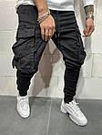 Мужские джинсы с большими карманами (черные) - Турция, фото 2