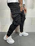 Мужские джинсы с большими карманами (черные) - Турция, фото 3