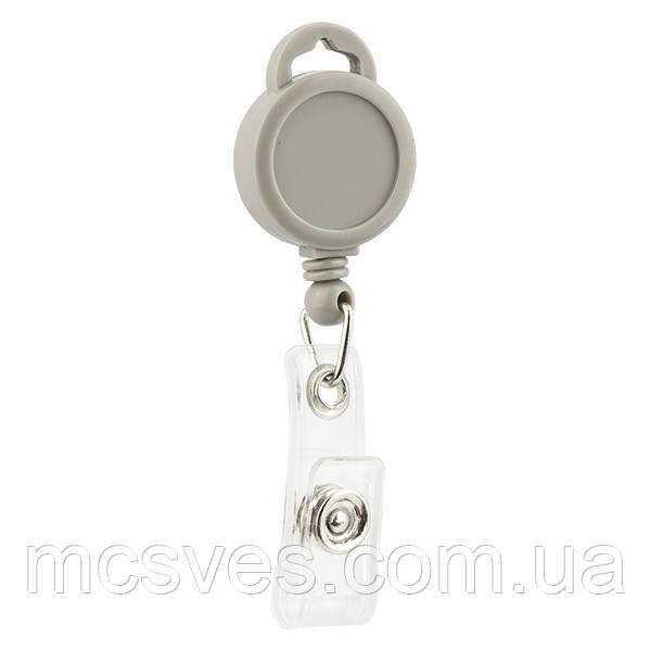 Клип-рулетка для бейджа Axent 4519-03-A серый
