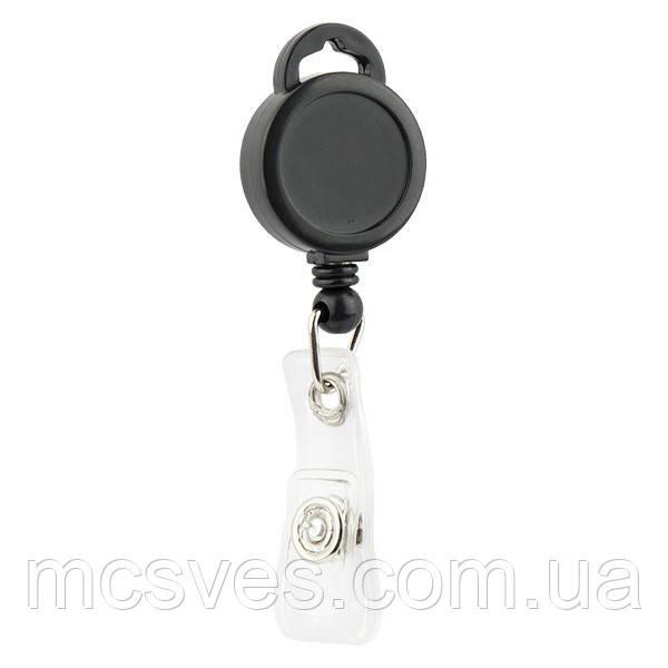 Клип-рулетка для бейджа Axent 4519-01-A черный